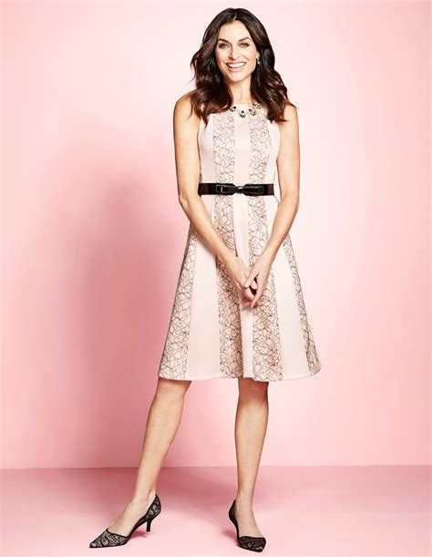 Dress Flare No Belt lace fit and flare dress with belt cleo
