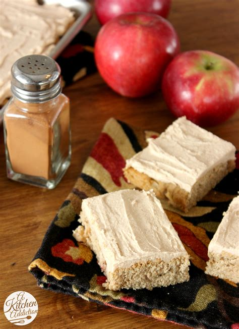 frosted apple blondies a kitchen addiction