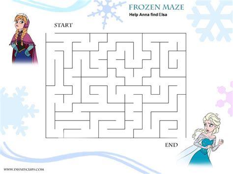 printable mazes disney frozen maze jpg 800 215 600 pixels frozen pinterest