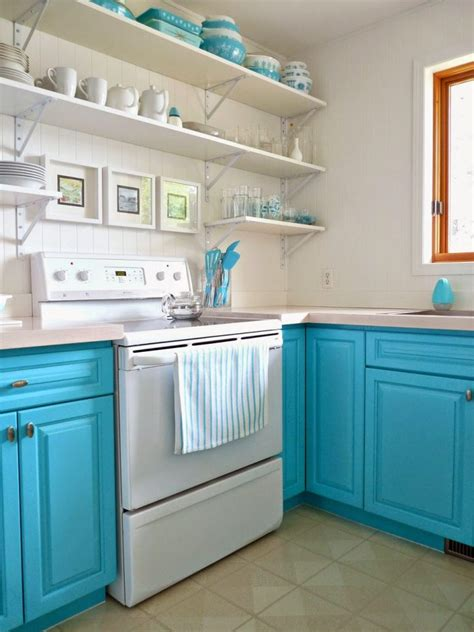 Turquoise Painted Kitchen Cabinets 5 Ways To Get This Look Bright Laundry Room
