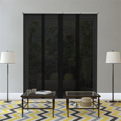 black see through curtains chicology adjustable sliding panel cut to length