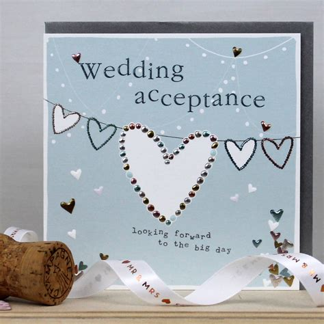 free email wedding acceptance cards 2 a wedding acceptance card by molly mae notonthehighstreet