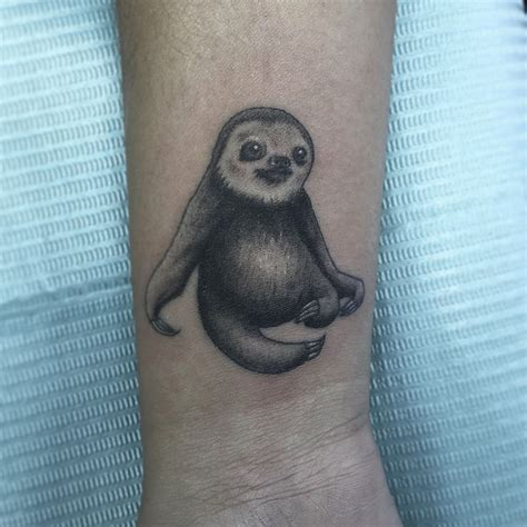 sloth tattoo black and grey sloth done by jason cooper