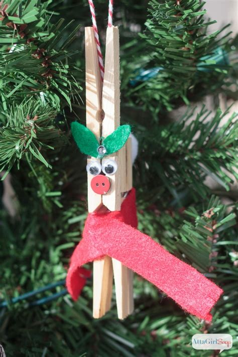 Clothespin Decorations by Diy Reindeer Clothespin Ornaments Tgif This Is