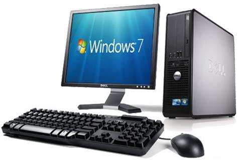 Cheap Desk Top Computers Cheap Refurbished Dell Windows 7 Desktop Pc Computer 17 Quot Monitor Ebay