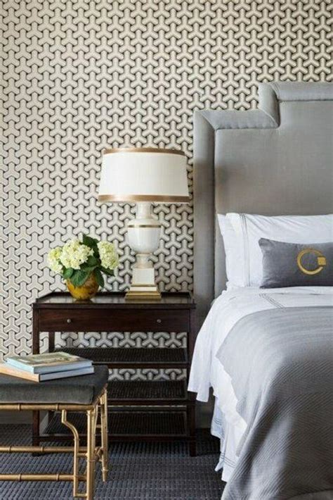 Wallpaper Bedroom Geometric 15 Captivating Bedrooms With Geometric Wallpaper Ideas
