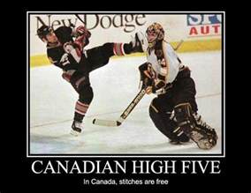 Canada Hockey Meme - canadian high five jokes memes pictures