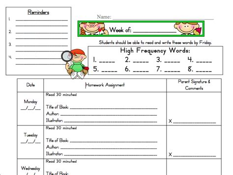 homework template for teachers a s plan april 2011