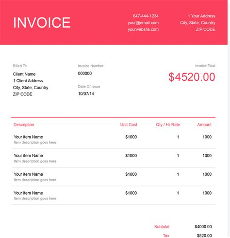 Free Graphic Design Invoice Template Download Now Get Paid Easily Invoice For Design Work Template