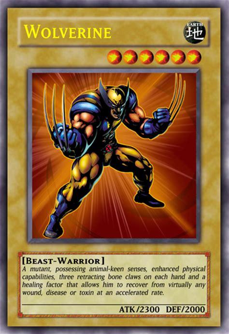 make yugioh card wolverine yu gi oh card casual card design yugioh