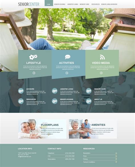 home design websites beautiful senior living websites retirement homes website