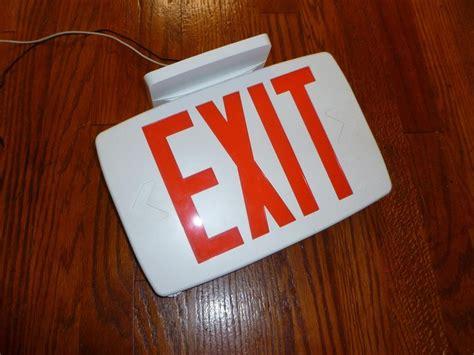 Lu Emergency Quantum lithonia quantum 174 led exit sign emergency lqm s w 3r 120