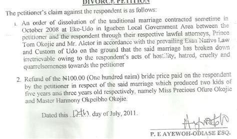 Marriage Letter Nigeria News Divorce Certificate Of Mercy Johnson S Spouse S Marriage