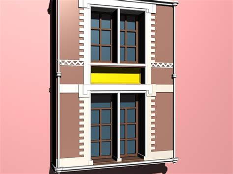 colonial style windows colonial style windows 3d model 3ds max files free