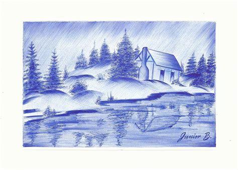 imagenes de paisajes en dibujo dibujo paisajes dibujos y retratos a lapicero