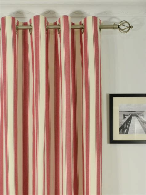 narrow curtain panels moonbay narrow stripe grommet cotton curtains panels