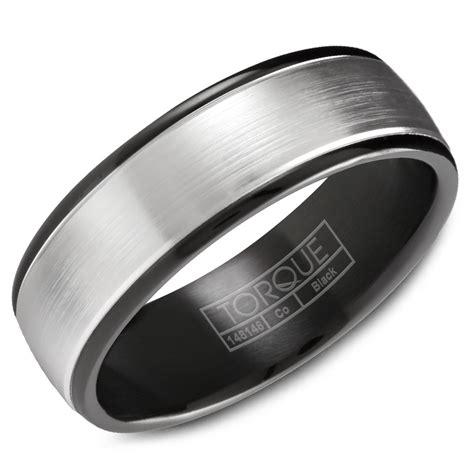 cobalt wedding band mens black ring custom black cobalt