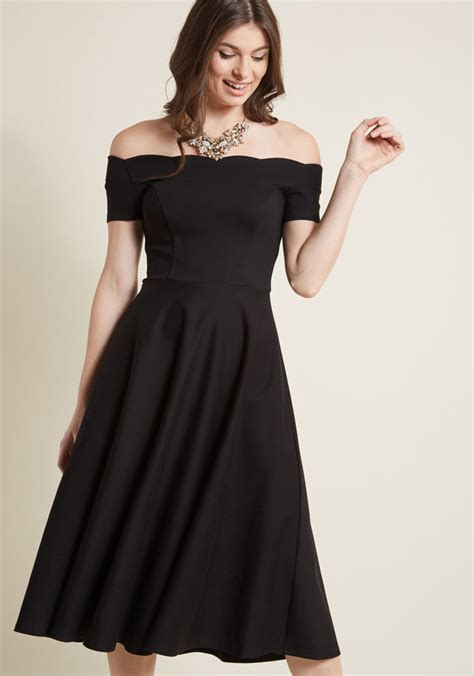50 Partywear At Warehouse by Ponte Knit Midi Dress With Scalloped Neckline Modcloth