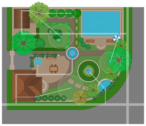 How To Layout A Garden Conceptdraw Sles Building Plans Landscape And Garden