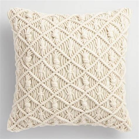 macrame pillow jali macrame indoor outdoor throw pillow world market