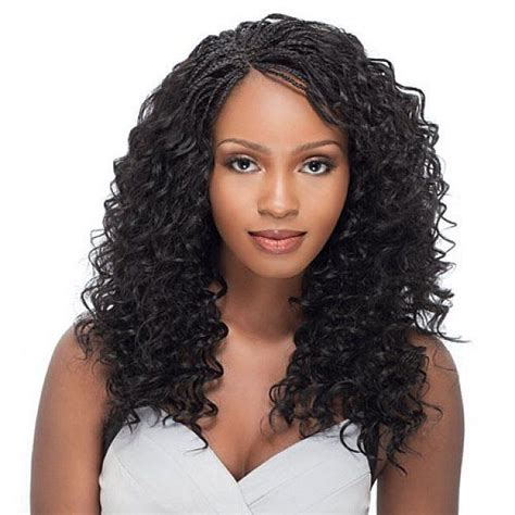 blackwomen weaves with bangs you can pin up micro braids hairstyles with long curly hair for black