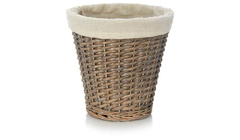 waste paper baskets george home willow waste paper basket bins george at asda