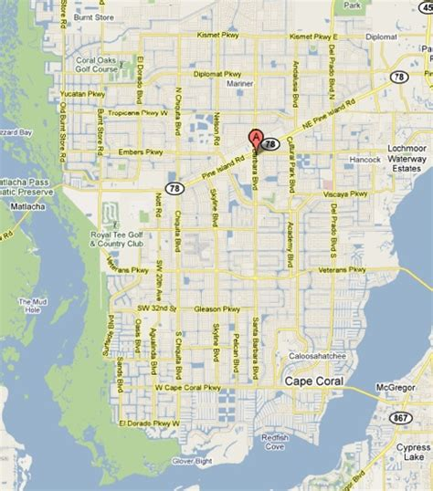 cape coral florida map map of cape coral florida my