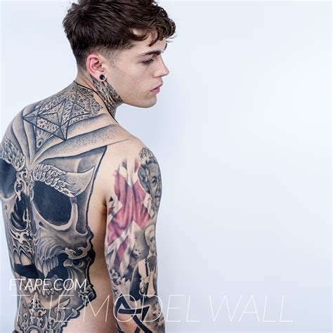 tattoo model london stephen james supa model management the model wall