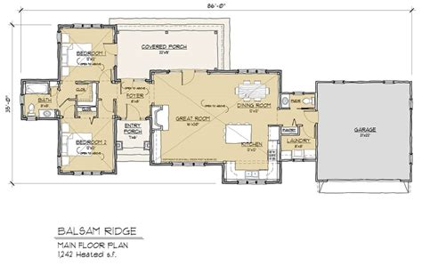 timberframe floor plans balsam ridge timber frame floor plan by mill creek