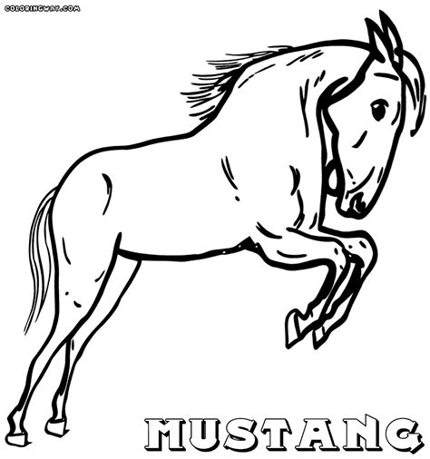 coloring pages of mustang horses mustang horse coloring pages coloring pages to