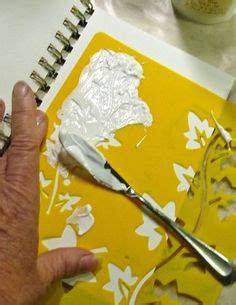 acrylic paint cornstarch embossing texture paste recipe tutorial 1 4 cup