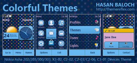 themes nokia asha 202 mobile9 themes for nokia asha 202 touch and type colorful stars