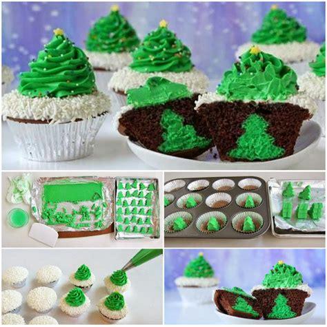 diy cheesecake stuffed christmas tree cupcakes