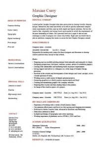 Graphic Designer Sample Resume Graphic Designer Resume 1 Example Job Description