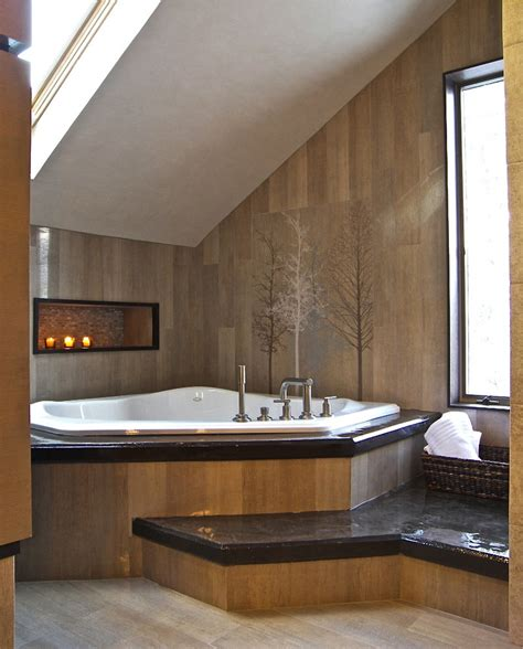corner tub bathroom ideas corner tub ideas bathroom contemporary with artwork corner