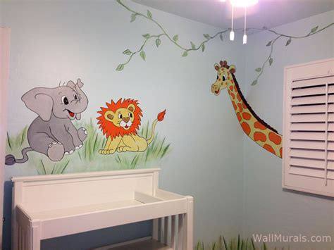 baby room wall murals jungle wall murals by colette safari jungle themed murals
