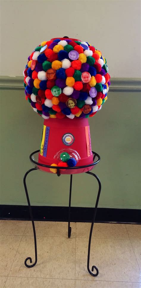 gumball machine winner  school pumpkin decorating