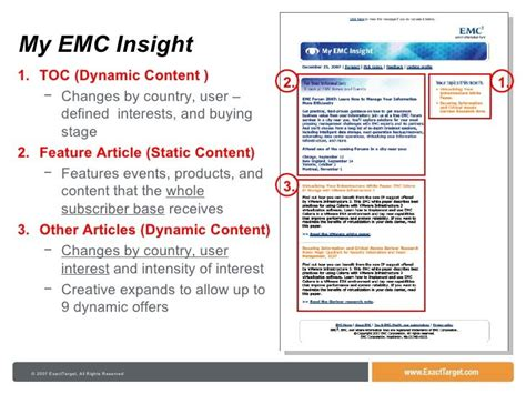 exacttarget email templates 12 best dynamic content exles images on