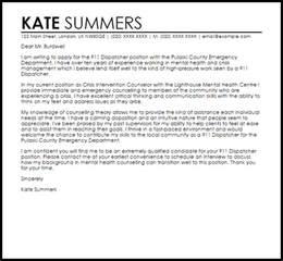 911 Dispatcher Cover Letter Sample   LiveCareer