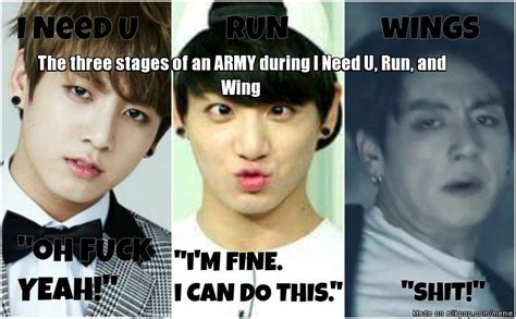 Bts Memes 2018 - the 3 stages of a bts fan when there s too much theory allkpop meme center