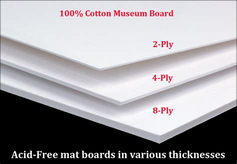 Acid Free Matting by Archival Solution Of The Week Bright White Cotton Museum