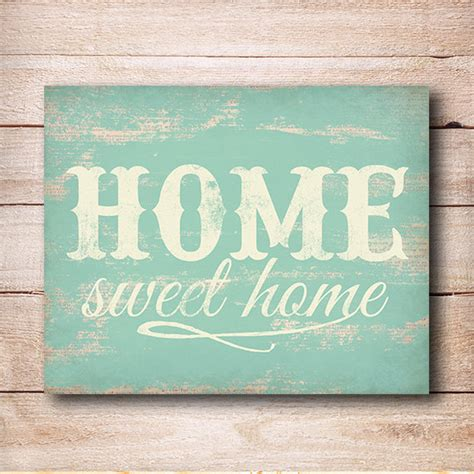 printable home decor signs home sweet home print rustic home decor typography