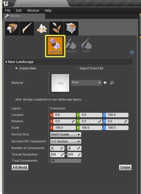 Landscape Mode Docs 언리얼 엔진 커스텀 하이트맵 및 레이어 제작 및 사용