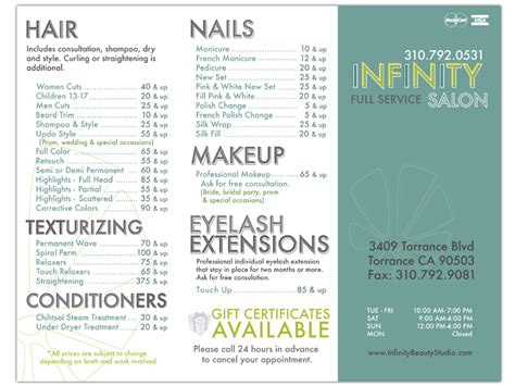 salon brochure infinity salon brochure be up doing