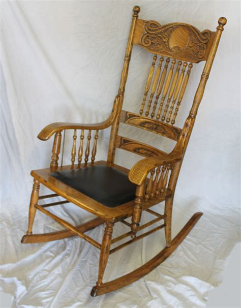 antique back rocking chairs bargain s antiques 187 archive antique oak carved