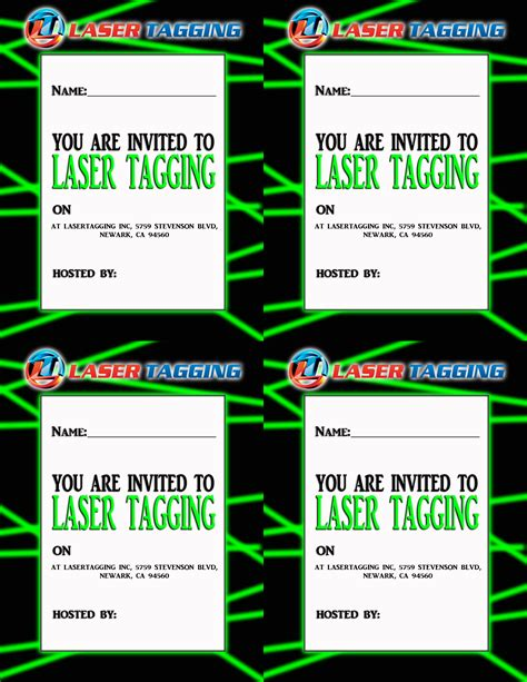40th birthday ideas free laser tag birthday invitation