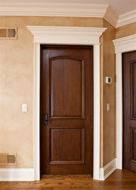 Handcrafted Doors - interior door custom single solid wood with walnut