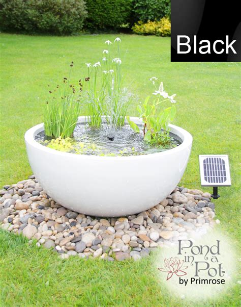 Pond Pots Planters by Solar Powered Pond In A Pot Kit With 72cm Black Planter