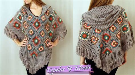 poncho para ni a en crochet y agujas circulares tricot poncho tejido a crochet hermosos dise 241 os youtube