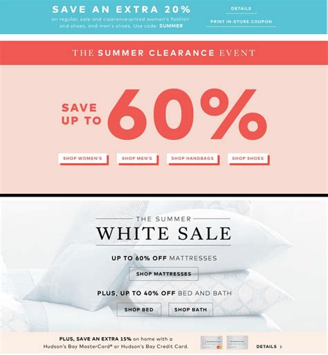 Hudson S Bay Canada Offers Save Up To 50 Select - hudson s bay canada offers save up to 60 summer